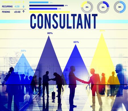 consulting team: Consultant Consulting Consult Information Knowledge Concept Stock Photo
