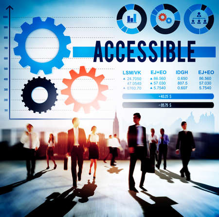 attainable: Accessible Attainable Available Possible Analysis Concept Stock Photo