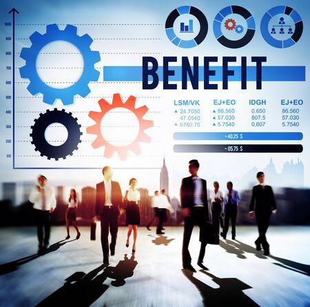 Benefit Assist Charity Claims Income Profit Value Concept