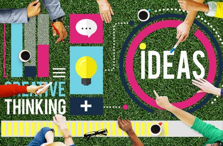 Idées de pensée créative Aspiration Mission Concept Banque d'images