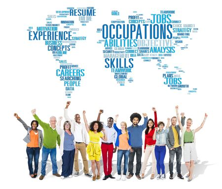 expertise: Occupation Job Careers Expertise Human Resources Concept