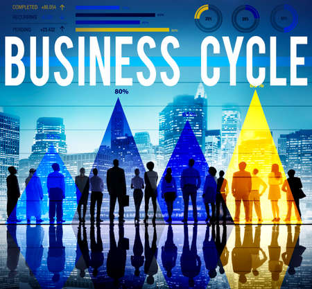 business cycle: Business Cycle Planning Strategy Organization Concept