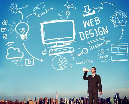 Web Design Développement Web Responsive concept de marque Banque d'images - 42825375