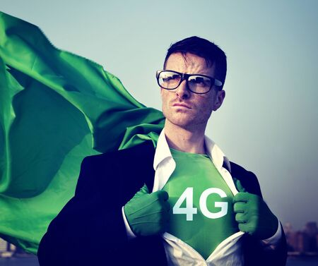 changing form: Strong Superhero Businessman 4G Concepts