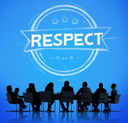 Respect Eerlijkheid Eervolle Regard Integriteit Concept Stockfoto