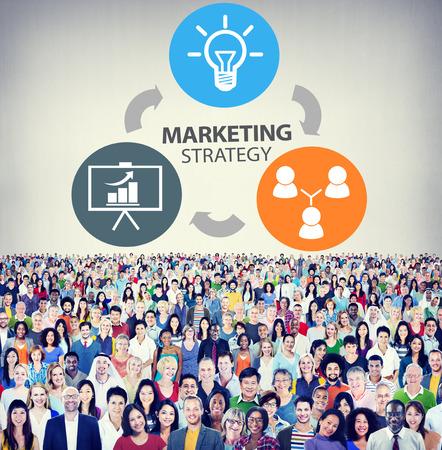 Publicité Marketing Strategy Branding Commercial plan Concept Banque d'images - 42825516