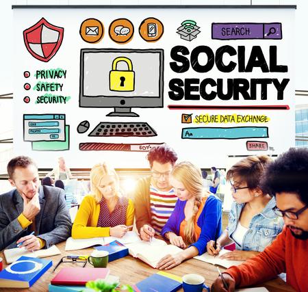 s�curit� sociale: S�curit� sociale Welfare retraite paiement Concept