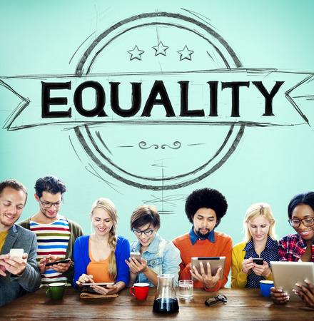 moral: Equality Balance Discrimination Equal Moral Concept Stock Photo