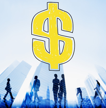 Business with dollar symbol concept
