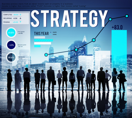 planning strategy: Strategy Planning Plan Process Directing Growth Concept Stock Photo