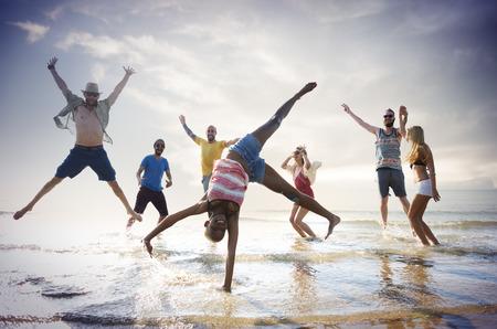 libertad: Amistad Freedom Beach Summer Holiday Concepto Foto de archivo