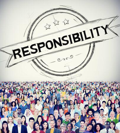 trustworthy: Responsibility Reliability Trust Liability Trustworthy Concept Stock Photo