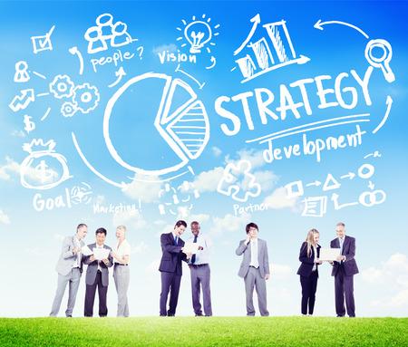 teamwork people: Strategy Development Goal Marketing Vision Planning Business Concept