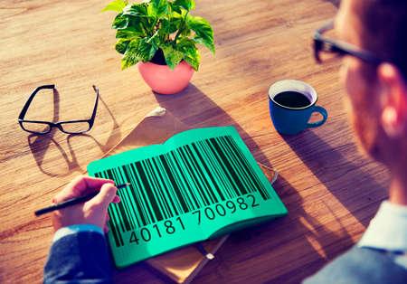 bar code reader: Bar Code Price Tag Coding Encryption Label Merchandise Concept