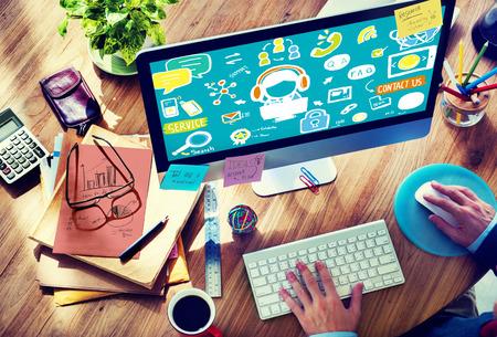고객 서비스 지원 솔루션 지원 보조 개념 스톡 콘텐츠