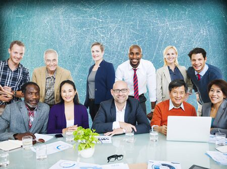 casual business: Business People Team Connection Togetherness Concept Stock Photo
