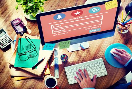 membership: E-mail Identity Password Memebership Sing In Web Page Concept