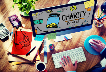 creative modern: Charity Donate Help Give Saving Sharing Support Volunteer Concept
