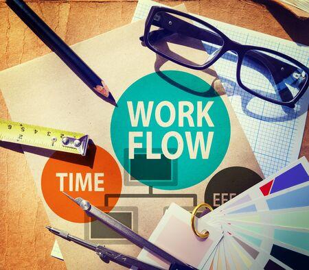 implement: Sforzo Workflow Implementare Efficienza Concetto di Business Archivio Fotografico