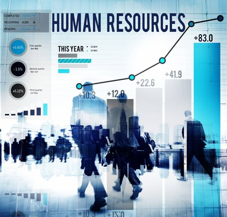 career man: Human Resources Career Hiring Profession Concept