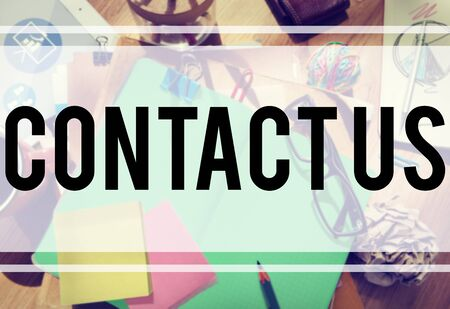 enquiry: Contact Us Hotline Info Service Customer Care Concept