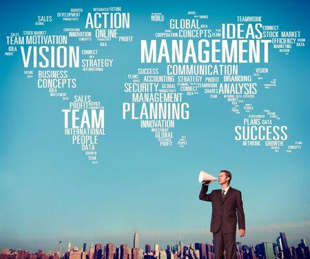 management team: Management Vision Action Planning Success Team Business Concept