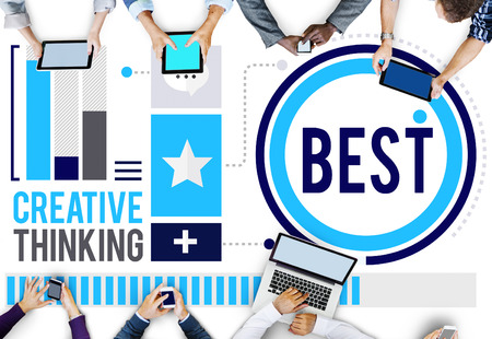 place of work: Best Efficiency Improve Development Growth Concept Stock Photo