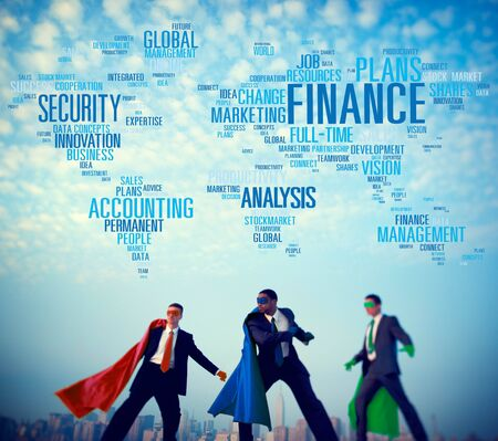 investment concept: Finanace Security Global Analysis Management Accounting Concept