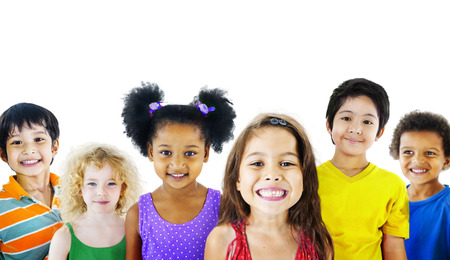 youth culture: Ethnicity Diversity Gorup of Kids Friendship Cheerful Concept