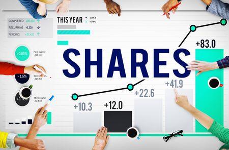 organisational: Shares Sharing Shareholder Corporate Concept