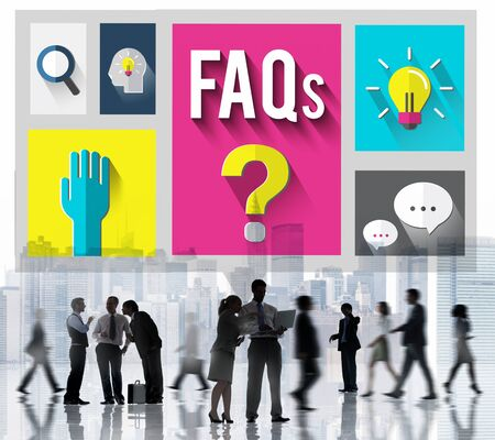 chiesto: Domande Frequenti Aiuto Inforamtion risposta Concetto Archivio Fotografico