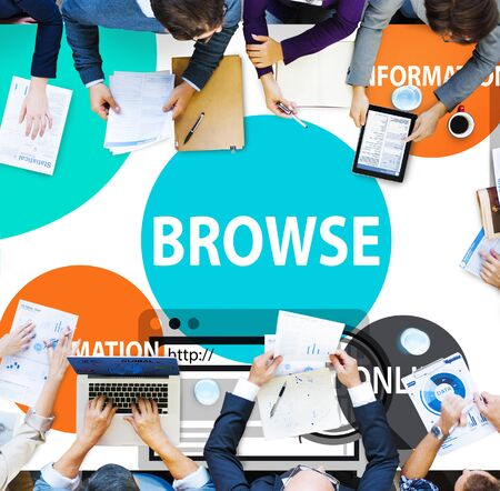 browse: Browse Browser Searching Information Connection Web Concept Stock Photo