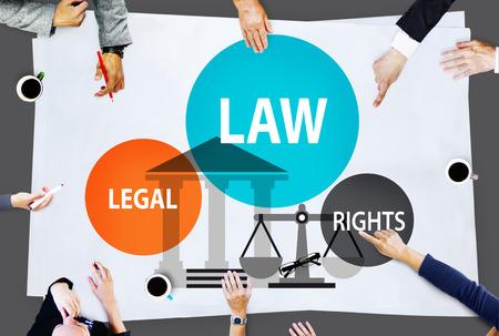 Law Legal Rights Judge Judgement Punishment Judicial Concept Фото со стока