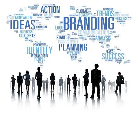 individuality: Branding World Global Marketing Identity Individuality Concept Stock Photo