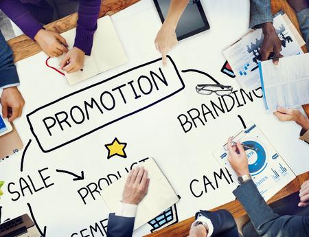 マーケティングの概念をブランディング プロモーション広告セール 写真素材