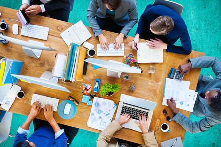 Business People Working Office Corporate Team Concept Stock Photo - 42884765
