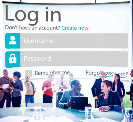 online privacy: Log in Password Identity Internet Online Privacy Protection Concept
