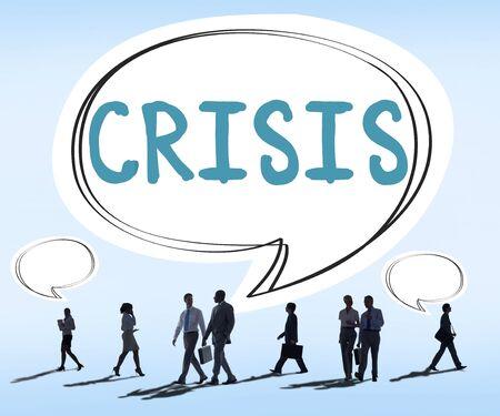 financial crisis: Economics Financial Crisis Risk Strategy Concept