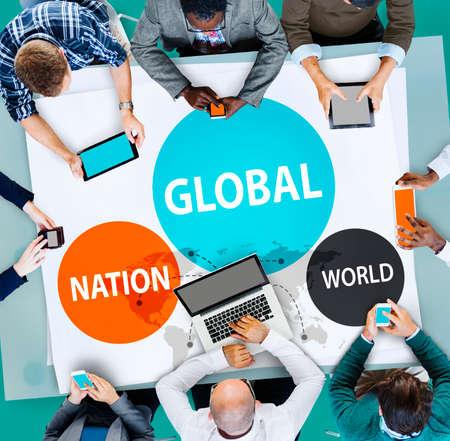 nation: Global Nation World International Variation Unity Concept Stock Photo