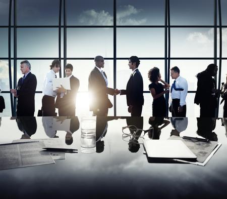 비즈니스 기업 사람들 파트너십 회의 토론 개념 스톡 콘텐츠
