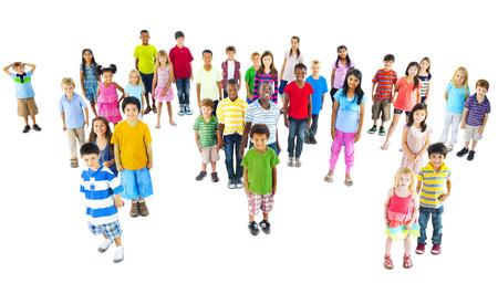 worl: Global Children Community Friendship Worl Map Concept