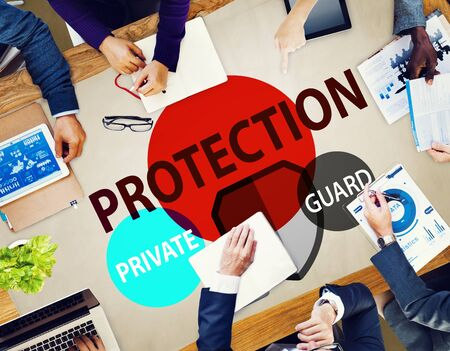 security protection: Security Protection Secrecy Privacy Firewall Guard Concept