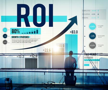Retour sur investissement financier Revenue Management Concept Banque d'images - 42884509