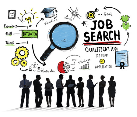 finding a job: Business People Discussion Aspiration Job Search Concept