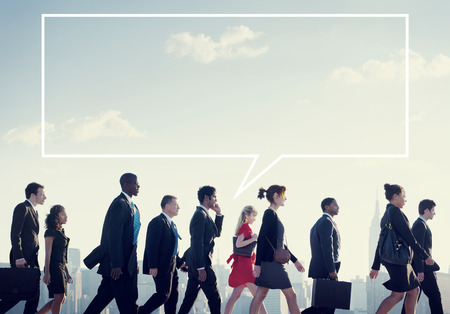group of business people: Team Business People Corporate Walking City Concept