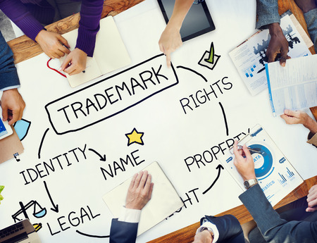 Trademark Copyright Identity Branding Product Concept Stock Photo