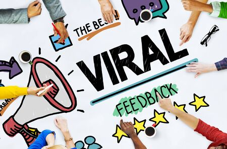 review: Viral Marketing Spread Review Event Feedback Concept Stock Photo