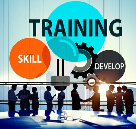 Compétences de développer la capacité de formation Expertise Concept Banque d'images - 42883744