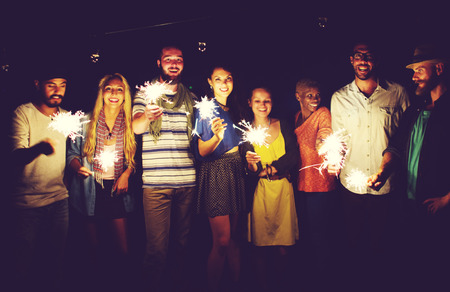 diversidad: Diverse étnico Partido Amistad Ocio Felicidad