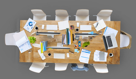 work place: Office Work Place Table Place of Work Concept Stock Photo